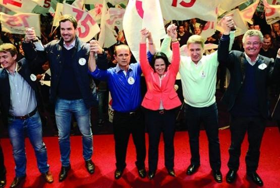 Lançamento da candidatura à reeleição de Cettolin e Fachinelli contou com a presença de lideranças dos partidos da coligação